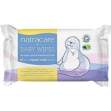 NATRACARE - Toallitas Limpiadoras de Algodón Natural para Bebes - Delicadas y eficaces - Perfectas para