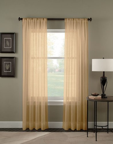 Crinkle-voile (Curtainworks Trinity Crinkle Voile Sheer Curtain Panel, 51 by 95