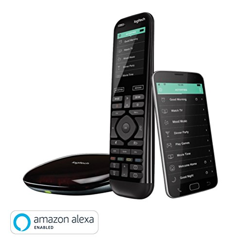 Logitech Harmony Elite - Touchscreen-Fernbedienung für Home Entertainment (funktioniert mit Amazon Alexa) schwarz