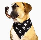 Spoilt Rotten Pet (S4) weiß Schädel Jolly Roger Hundehalstuch. Extra große Größe Allgemein passend für Rottweiler und St Bernard Große Hunde. Halsumfang 58,4cm to 71,1cm Gorgeous Reihe von Mustern und Farben.
