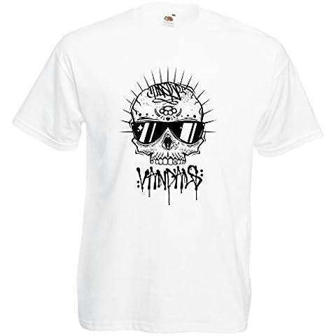 N4599 T-shirt da uomo The Skull