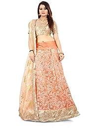 ShreeBalaji multicolor silk embroidary Lehenga Choli (SBE-022_Free Size)