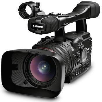 Canon XH A1 3-CCD HD-Camcorder (1,6 Megapixel, 20-Fach opt. Zoom 7,1 cm (2,8 Zoll) Display, Bildstabilisator) schwarz