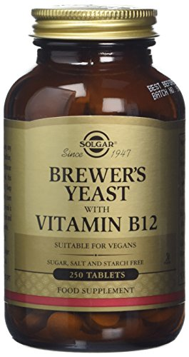 Solgar Brewer's Yeast with Vitamin B12 Tablets - Pack of 250 Test