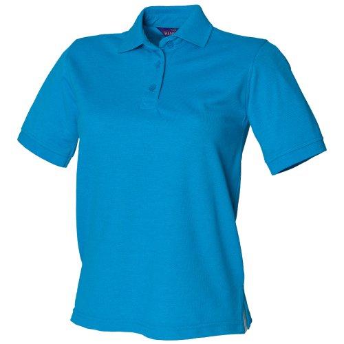 Polo à rétention de forme Henbury pour femme Bleu Saphir
