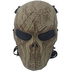 fantasma calavera Airsoft Paintball máscara completa protección Militar disfraz de Halloween mujer hombre (Style 3)
