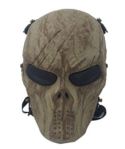 Preisvergleich Produktbild Coofit Ghost Skull Airsoft Paintball Maske militärische Vollschutz Halloween Kostüm