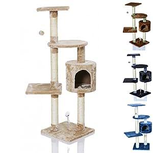 lcp arbre chat griffoir grattoir hedus 115 cm beige. Black Bedroom Furniture Sets. Home Design Ideas
