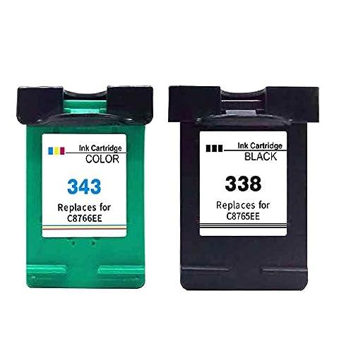 2er Set Kompatible Tintenpatronen Als Ersatz für HP 338 XL