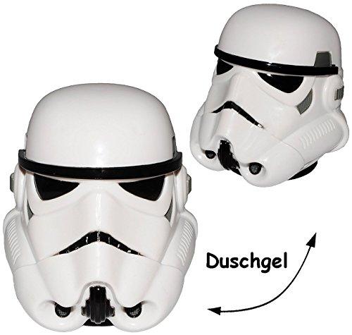 "Badeschaum & Duschgel - "" Star Wars / Figur - Stormtrooper "" - Badegel - Geschenkset - Kinder / Jungen - Luke Skywalker Starwars - Shampoo - Badewannenspielzeug - Badewanne / Dusche - Duschset - Badezimmer"