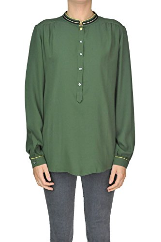 Acetat Bluse (Mason's Damen Mcgltpc02050i Grün Acetat Bluse)