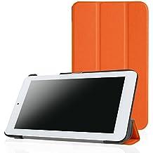 Acer Iconia One 7 B1-770 Funda, Pasonomi® Ultra Slim Ligera Smart-shell Funda Caso de Cuero PU con Stand para Acer Iconia ONE 7 B1-770 - Naranja