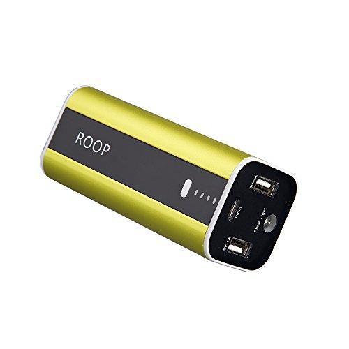 ROOP 12000 mAh Schnell Ladegerät Dual USB Externer Akku Pack Portable akku Ladegerät Power Bank für iPhone, iPad Mini, Samsung Galaxy S6, mehr Handys und Tablets(Green)