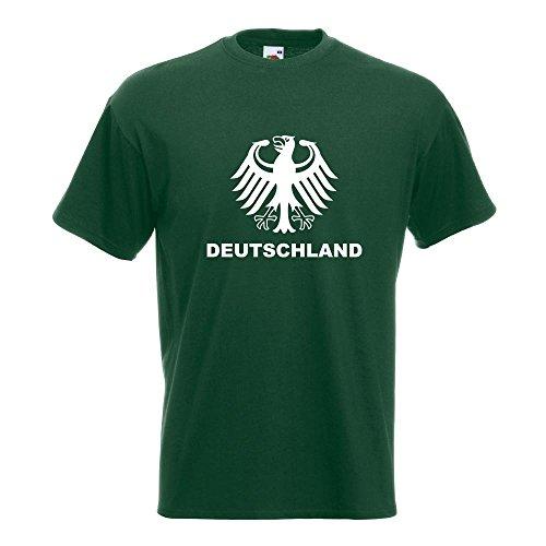 KIWISTAR - Deutschland Bundesadler T-Shirt in 15 verschiedenen Farben - Herren Funshirt bedruckt Design Sprüche Spruch Motive Oberteil Baumwolle Print Größe S M L XL XXL Flaschengruen