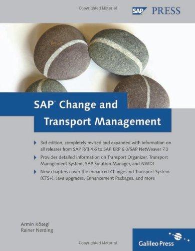 SAP Change and Transport Management 3rd edition by K?segi, Armin, Nerding, Rainer (2009) Hardcover par Armin, Nerding, Rainer K?segi