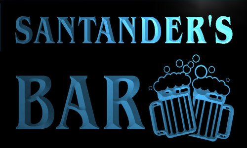 w025920-b-santanders-nom-accueil-bar-pub-beer-mugs-cheers-neon-sign-biere-enseigne-lumineuse