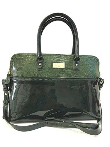 Borsa donna Camomilla, a Mano e Tracolla, Hand Bag Lizard Green, ecopelle verde chiusura zip COD.19447
