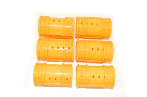 Lot de 6 bigoudis Orange Grande taille, diamètre : 38 mm