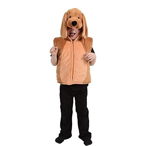 (3-7) Boys or Girls Deluxe Puppy Gillet Kids Costume Outfit for Animals Fancy Dress