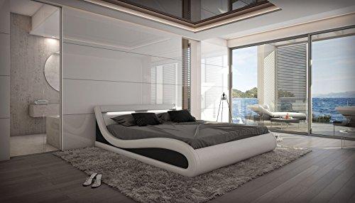 Wasserbett CASERTA von Sofa Dreams 180 x 200 cm in weiß, mit Beleuchtung, Dual Kern