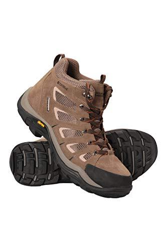 Mountain Warehouse Field Waterproof Vibram Hiking Boots - Waterproof Rain Shoes, Durable Walking Boots, Suede & Mesh Upper - Footwear for Camping & Travelling