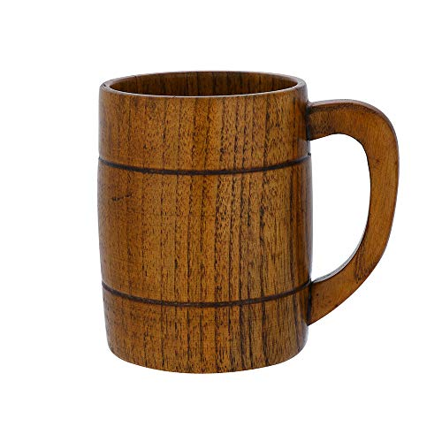 LCLrute Hohe Qualität 1X Wooden Bottle Tea Cups Jujube Wood Mug Handmade Barrel Juice Beer Holzbecher Holz Tasse Bier Tasse Tee Becher Milch Tasse Kaffee Holzbecher Trinkbecher (A) - Bier-cup