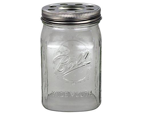 Jar Glas Schatten mit 1-5/8Zoll Fitter Öffnung Beleuchtung Deckel ()
