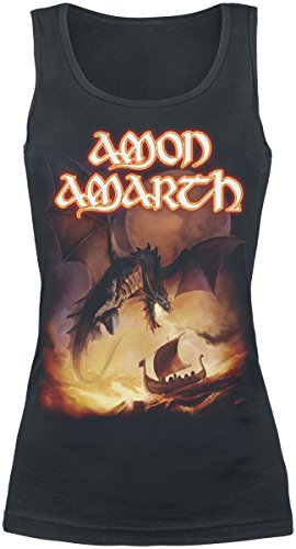 Amon Amarth On A Sea Of Blood Top Femme noir Noir