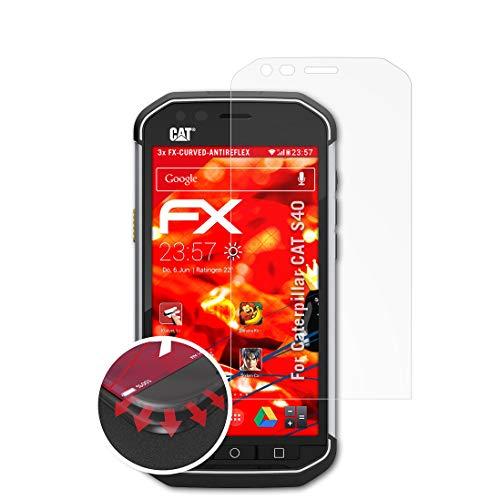atFolix Schutzfolie passend für Caterpillar CAT S40 Folie, entspiegelnde & Flexible FX Bildschirmschutzfolie (3X)
