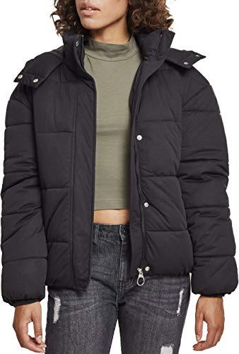 Urban Classics Damen Daunenjacke Winterjacke Ladies Boyfriend Puffer Jacket Jacke, Schwarz (Black 00007), Small