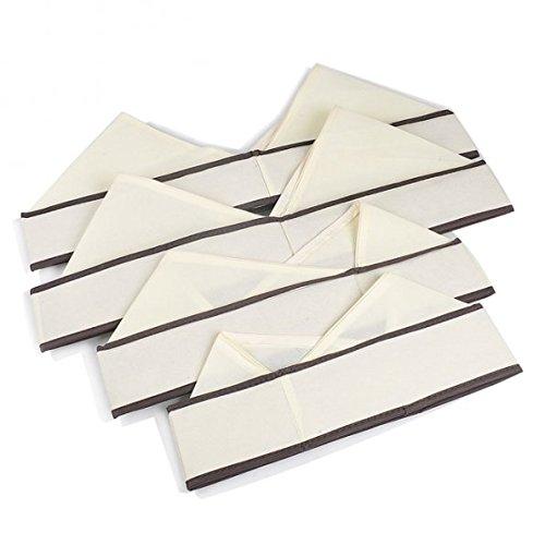 Kicode BH Unterwäsche Socken Krawatten Dessous Aufbewahrungsbox Organizer Schrank Schubladen 4 Stück - 6