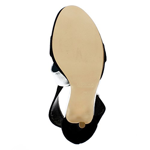 VALERIA Damen Sandalette Kombi Leder 2 Farbig