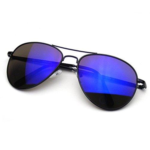 Emblem Eyewear Sonnenbrille Jahrgang Spiegel Linse Neu Männer Frau Mode Pilot Retro mit Flieger...