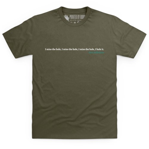 Seve Ballesteros Quote T-Shirt, Herren Olivgrn