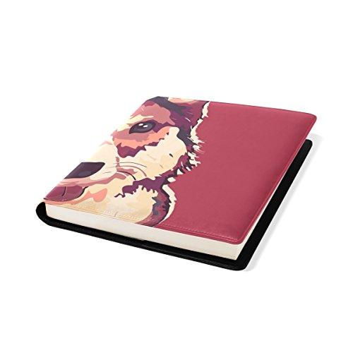 COOSUN Corgi Hund Malerei Buch Sox dehnbare Buchumschlag, passt die meisten Hardcover-Bücher bis zu 9 x 11. Klebstoff-frei, Pu Leder Schulbuch-Schutz (Corgi Malerei)