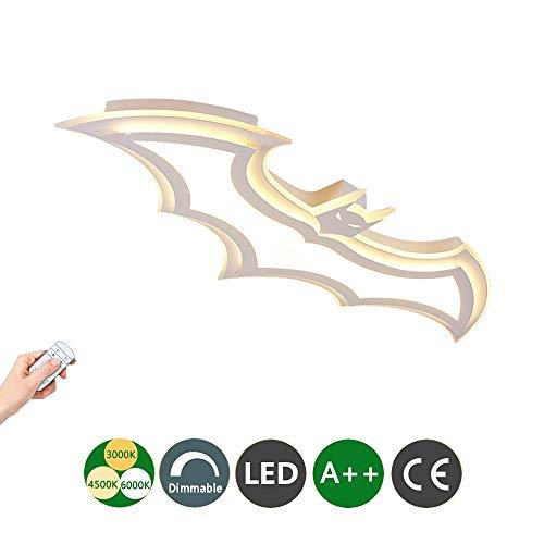 LED Deckenleuchte Batman Decor Lampe Mit Fernbedienung dimmbar Moderne Acryl Lampe Wohnzimmer Schlafzimmer Esszimmer Arbeitszimmer Junge Mädchen Kinderzimmer Lampe, L95CM * W40CM -