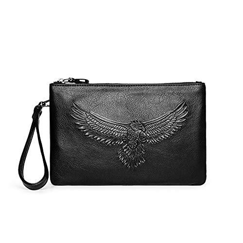 Lling New Men Casual Persönlichkeit Geschäft große Kapazität Clutch Bag Umschlag, schwarz