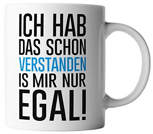 vanVerden Tasse Ich Hab Das Schon Verstanden Is Mir Nur Egal, Farbe:Weiß/Bunt