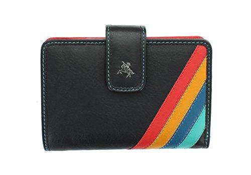 Visconti Chloe Collection STELLA Portefeulilles en cuir pour sac à main avec RFID Protection CHL71 noir