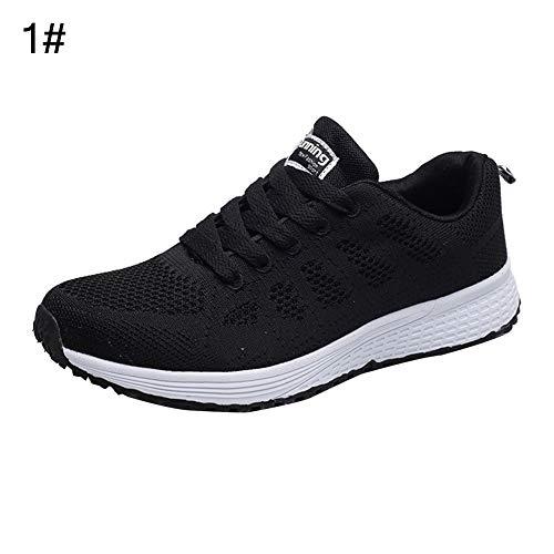 REDAPP Sommermode Turnschuhe, Jungen und Mädchen weichen Boden Sportschuhe leichte rutschfeste atmungsaktive Mesh-Schuhe Freizeitschuhe Haken Ring Spitze Turnschuhe 35 1# -