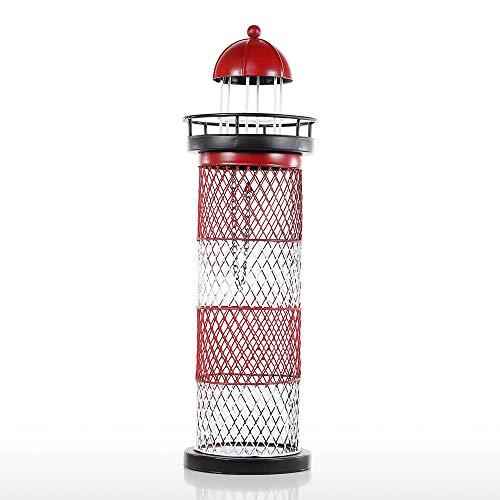 LaMei Yang Kreative Leuchtturm Form Weinhalter, Metall Skulptur Praktische Handgemachte Ornament Weinregal, für Wohnzimmer Und Esszimmer Dekoration