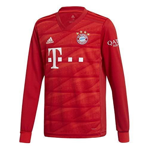 adidas Kinder FC Bayern München Home Langarm Trikot 2019/20 FCB True RED 128 - Kind Langarm Trikot