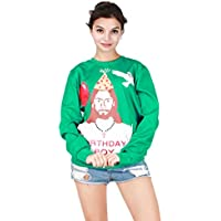 NiSeng Donna Uomo Pullover Felpe Natale Felpa Manica Lunga Jumper Caldo Sweater con Stampa