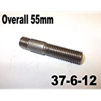 8 x M10 55 mm tubo de escape de 55 mm total 37 – 6 – 12