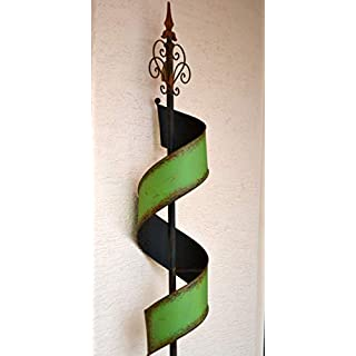 Maison en France Gartenstecker 180 cm - sehr hübscher außergewöhnlicher Gartenstecker grün- stabil- aus Metall