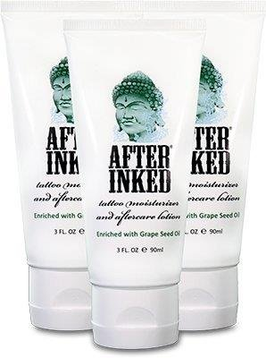 After Inked Tattoo Moisturizer & Aftercare Lotion 3oz Tube (3-Pack) by After Inked (Aftercare Lotion)