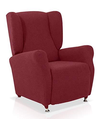 JM Textil Husse für Ohrensessel Portitxol Größe 1 Sitzer (Standard), Farbe Rot (Mehrere Farben verfügbar)