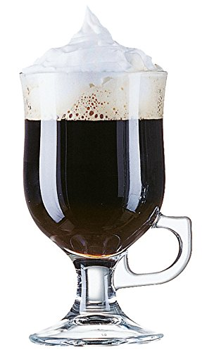 Arcoroc Irish Coffee Glas auf Fuß mit Henkel 250ml, ohne Füllstrich, 6 Stück