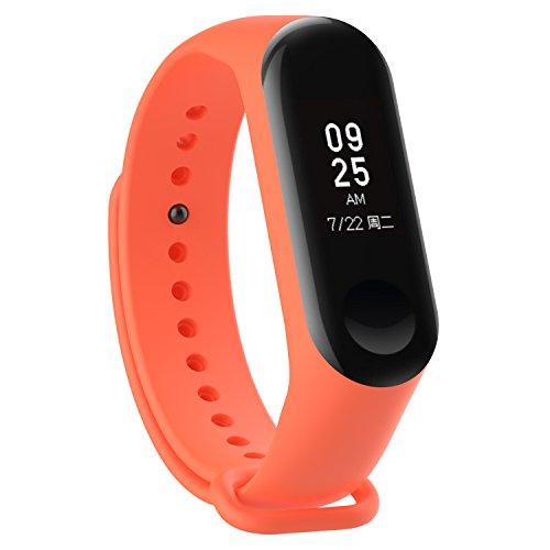 XIHAMA Uhrenarmband für Xiaomi Mi Band 3 / Mi Band 4, weiches Silikon Ersatzband Fitness Armband Sport Ersatzarmband Bänder
