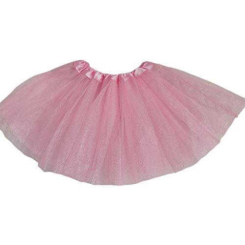 A0127 Baby Mädchen Ballett Tanz Mini Tutu Rock DREI Schicht Metallic Glitter Pailletten Candy Plissee Prinzessin Tüll Pettiskirt 11 Farben